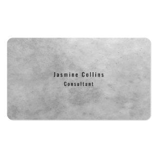 Trendy Stylish Simple Plain Grey Stone Wall Business Card