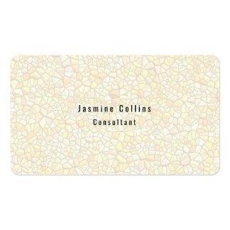 Trendy Stylish Simple Plain Stone Wall Pattern Business Card