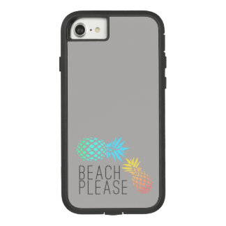 """trendy summer """"beach please"""", colorful pineapple Case-Mate tough extreme iPhone 8/7 case"""