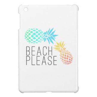 "trendy summer ""beach please"", colorful pineapple iPad mini case"