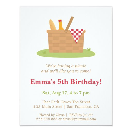 Picnic Birthday Party Invitations for beautiful invitation design