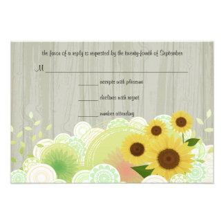 Trendy Sunflowers RSVP Response Card