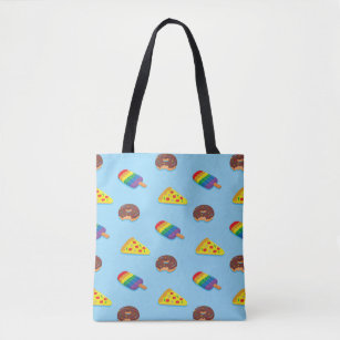 trendy swimming pool floats pattern summer tote