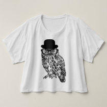 "Trendy T-shirt ""GENTLEMAN OWL """
