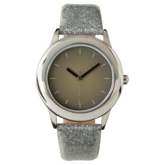 Trendy Tan and Black Grainy Vignette Wristwatches