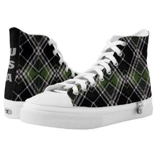 Trendy Tartan USA Printed Shoes