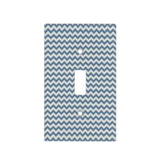 Trendy Teal Blue Chevron Zigzag Stripes