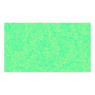 Trendy Teal Hand Drawn Geometric Linear Pattern Business Card