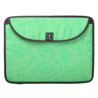 Trendy Teal Hand Drawn Geometric Linear Pattern Sleeve For MacBook Pro