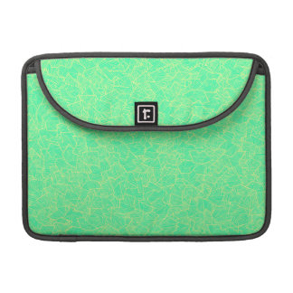 Trendy Teal Hand Drawn Geometric Linear Pattern Sleeves For MacBook Pro