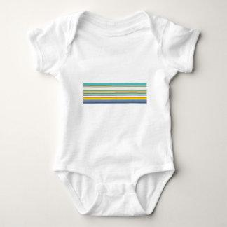Trendy Teal Stripey Design Baby Bodysuit