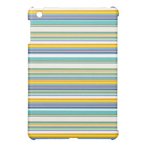 Trendy Teal Stripey Design iPad Mini Case