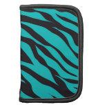 Trendy Teal Turquoise Black Zebra Stripes Organizer