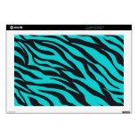 Trendy Teal Turquoise Black Zebra Stripes 17
