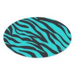 Trendy Teal Turquoise Black Zebra Stripes Stickers