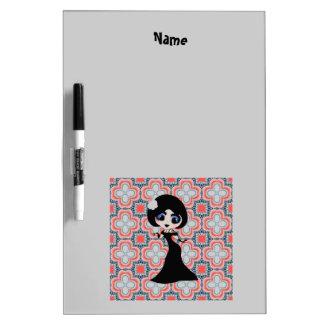 Trendy Teen Girl artdeco personalized Dry-Erase Board
