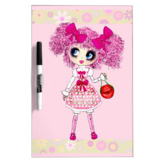 Trendy Teen Girl Fashion Doll PinkyP Dry Erase Whiteboards
