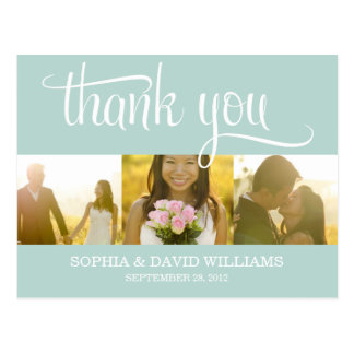 TRENDY THANKS | WEDDING THANK YOU CARD POSTCARDS