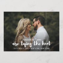 TRENDY TIE THE KNOT PHOTO SAVE THE DATE
