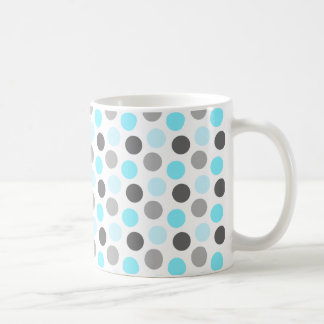 Trendy Tiffany Blue Gray Dots Pattern Coffee Mug