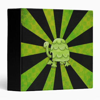 Trendy Tipsy Turtle Green and Black Shockwave 3 Ring Binder