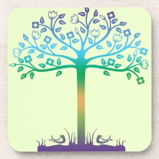 Trendy Tree Design Coaster