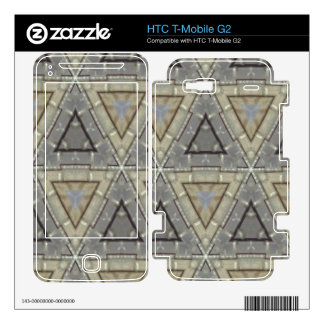 Trendy triangle pattern HTC T-Mobile g2 skin