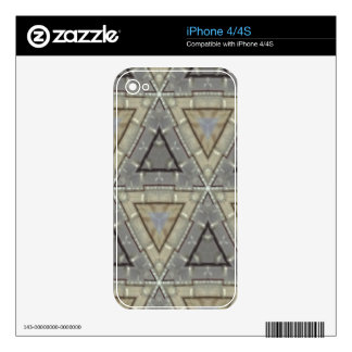 Trendy triangle pattern skin for the iPhone 4