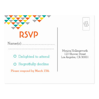 Trendy Tribal & Arrow Baby Shower RSVP Postcard
