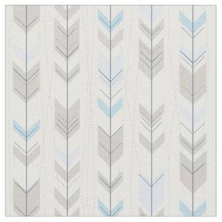 Trendy Tribal Blue Arrow Tail Pattern Fabric
