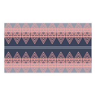 Trendy Tribal Chevron Pattern Geometric Design Art Business Card