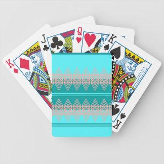 Trendy Tribal Chevron Pattern Geometric Design Art Bicycle Playing Cards