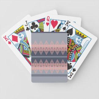 Trendy Tribal Chevron Pattern Geometric Design Art Bicycle Card Deck