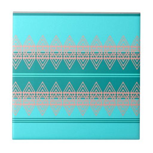 Trendy Tribal Chevron Pattern Geometric Design Art Tiles