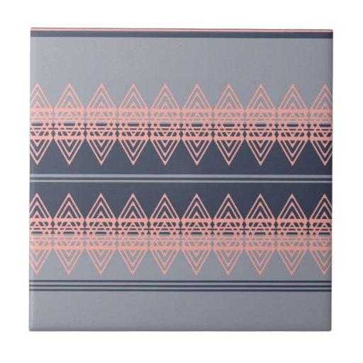 Trendy Tribal Chevron Pattern Geometric Design Art Tile