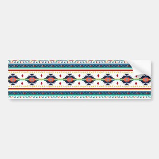 trendy tribal ethnic Navajo geometric pattern Bumper Sticker
