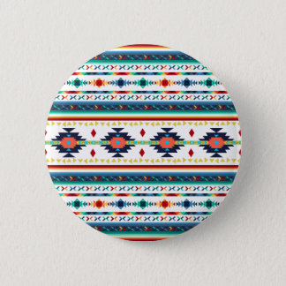 trendy tribal ethnic Navajo geometric pattern Button