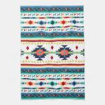 trendy tribal ethnic Navajo geometric pattern Hand Towel
