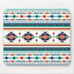 trendy tribal ethnic Navajo geometric pattern Mouse Pad