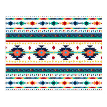 trendy tribal ethnic Navajo geometric pattern Postcard