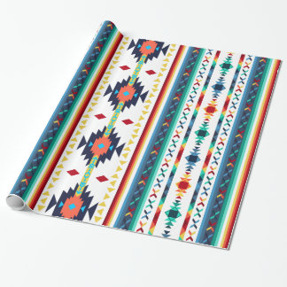 trendy tribal ethnic Navajo geometric pattern Wrapping Paper