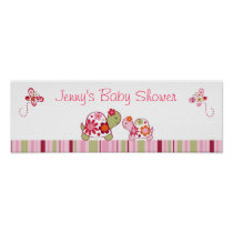 Trendy Tropical Turtle Baby Shower Banner Sign