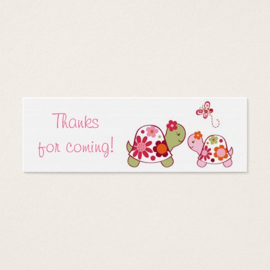 Trendy Tropical Turtle Baby Shower Favor Gift Tags