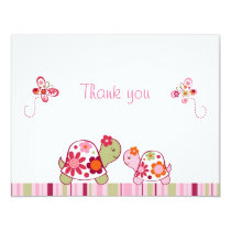 Trendy Tropical Turtle Thank You Note Cards