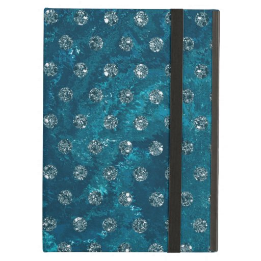 Trendy Turquoise and faux rhinestones Case For iPad Air