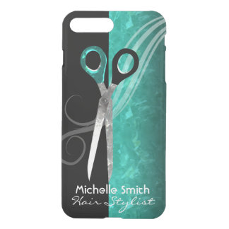 Trendy turquoise hair salon iPhone case