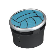 Trendy Turquosie Volleyball Speaker at Zazzle