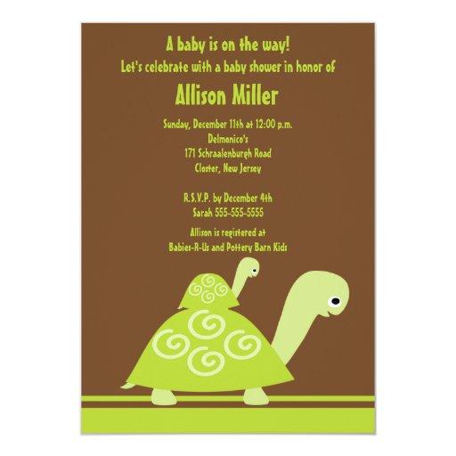 trendy turtle baby shower invitation zazzle