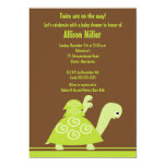 Trendy Twins Turtle Baby Shower Invitation