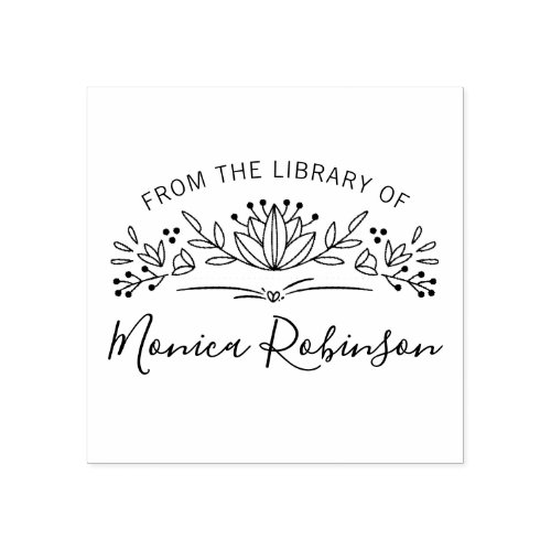 Trendy Typography Botanical From The Library Of Rubber Stamp